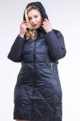 Оптом Куртка зимняя женская классическая темно-синего цвета 100-916_123TS в Казани, фото 6