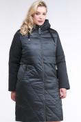 Оптом Куртка зимняя женская классическая темно-зеленого цвета 100-916_150TZ в Казани, фото 2
