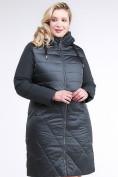 Оптом Куртка зимняя женская классическая темно-зеленого цвета 100-916_150TZ в Казани, фото 3