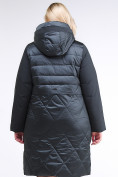 Оптом Куртка зимняя женская классическая темно-зеленого цвета 100-916_150TZ в Казани, фото 4