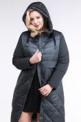 Оптом Куртка зимняя женская классическая темно-зеленого цвета 100-916_150TZ в Казани, фото 5