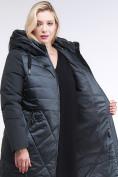 Оптом Куртка зимняя женская классическая темно-зеленого цвета 100-916_150TZ в Казани, фото 7