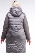 Оптом Куртка зимняя женская классическая коричневого цвета 100-916_48K в Нижнем Новгороде, фото 4