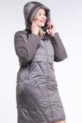 Оптом Куртка зимняя женская классическая коричневого цвета 100-916_48K в Нижнем Новгороде, фото 5