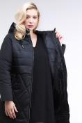 Оптом Куртка зимняя женская классическая черного цвета 100-916_701Ch в Екатеринбурге, фото 7