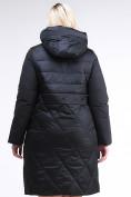 Оптом Куртка зимняя женская классическая черного цвета 100-916_701Ch в Екатеринбурге, фото 4