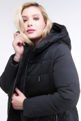 Оптом Куртка зимняя женская классическая черного цвета 100-916_701Ch в Екатеринбурге, фото 8