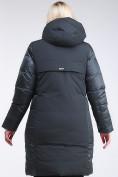 Оптом Куртка зимняя женская классическая темно-зеленого цвета 100-921_150TZ в Казани, фото 4