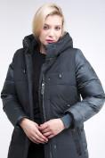 Оптом Куртка зимняя женская классическая темно-зеленого цвета 100-921_150TZ в Казани, фото 6