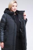 Оптом Куртка зимняя женская классическая темно-зеленого цвета 100-921_150TZ в Казани, фото 8