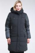 Оптом Куртка зимняя женская классическая темно-зеленого цвета 100-921_150TZ в Казани, фото 2