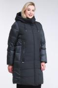 Оптом Куртка зимняя женская классическая темно-зеленого цвета 100-921_150TZ в Казани, фото 3