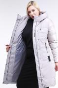 Оптом Куртка зимняя женская классическая серого цвета 100-921_46Sr в Екатеринбурге, фото 8