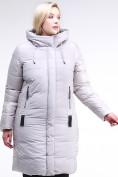 Оптом Куртка зимняя женская классическая серого цвета 100-921_46Sr в Екатеринбурге, фото 3