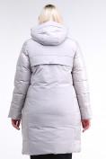 Оптом Куртка зимняя женская классическая серого цвета 100-921_46Sr в Екатеринбурге, фото 5