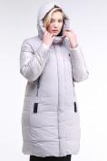 Оптом Куртка зимняя женская классическая серого цвета 100-921_46Sr в Екатеринбурге, фото 6