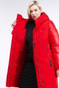 Оптом Куртка зимняя женская классическая красного цвета 100-921_7Kr в Казани, фото 5