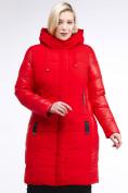 Оптом Куртка зимняя женская классическая красного цвета 100-921_7Kr в Казани, фото 2
