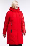 Оптом Куртка зимняя женская классическая красного цвета 100-921_7Kr в Казани, фото 3