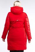 Оптом Куртка зимняя женская классическая красного цвета 100-921_7Kr в Казани, фото 4