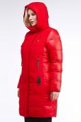 Оптом Куртка зимняя женская классическая красного цвета 100-921_7Kr в Казани, фото 7