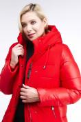 Оптом Куртка зимняя женская классическая красного цвета 100-921_7Kr в Казани, фото 6