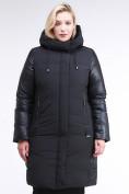 Оптом Куртка зимняя женская классическая черного цвета 100-921_701Ch в  Красноярске, фото 2