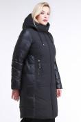 Оптом Куртка зимняя женская классическая черного цвета 100-921_701Ch в  Красноярске, фото 3