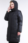 Оптом Куртка зимняя женская классическая черного цвета 100-921_701Ch в  Красноярске, фото 5