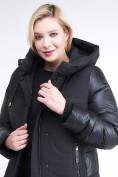 Оптом Куртка зимняя женская классическая черного цвета 100-921_701Ch, фото 6
