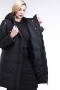Оптом Куртка зимняя женская классическая черного цвета 100-921_701Ch в  Красноярске, фото 7
