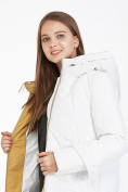 Оптом Куртка зимняя женская белого цвета 100-927_31Bl в Казани, фото 6