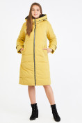 Оптом Куртка зимняя женская желтого цвета 100-927_56J в Екатеринбурге