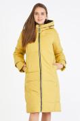 Оптом Куртка зимняя женская желтого цвета 100-927_56J в Екатеринбурге, фото 2