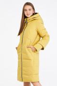 Оптом Куртка зимняя женская желтого цвета 100-927_56J в Екатеринбурге, фото 3