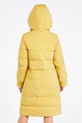 Оптом Куртка зимняя женская желтого цвета 100-927_56J в Екатеринбурге, фото 4