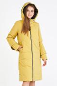 Оптом Куртка зимняя женская желтого цвета 100-927_56J в Екатеринбурге, фото 5