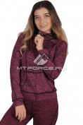 Интернет магазин MTFORCE.ru предлагает купить оптом толстовку женскую спортивную фиолетового цвета 1020F по выгодной и доступной цене с доставкой по всей России и СНГ