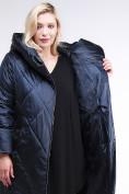 Оптом Куртка зимняя женская стеганная темно-синего цвета 105-917_84TS в  Красноярске, фото 8