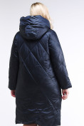 Оптом Куртка зимняя женская стеганная темно-фиолетовый цвета 105-917_122TF в Казани, фото 3