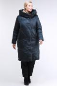 Оптом Куртка зимняя женская стеганная темно-зеленый цвета 105-917_123TZ в Казани