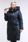 Оптом Куртка зимняя женская стеганная темно-зеленый цвета 105-917_123TZ в Казани, фото 3