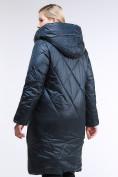 Оптом Куртка зимняя женская стеганная темно-зеленый цвета 105-917_123TZ в Казани, фото 4