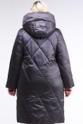 Оптом Куртка зимняя женская стеганная темно-серого цвета 105-917_58TC в Екатеринбурге, фото 4