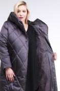 Оптом Куртка зимняя женская стеганная темно-серого цвета 105-917_58TC в Екатеринбурге, фото 7