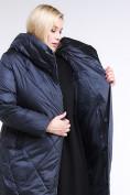 Оптом Куртка зимняя женская стеганная темно-синего цвета 105-917_84TS в  Красноярске, фото 7