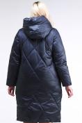 Оптом Куртка зимняя женская стеганная темно-синего цвета 105-917_84TS в  Красноярске, фото 4