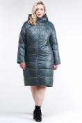 Оптом Куртка зимняя женская стеганная темно-зеленого цвета 105-918_16TZ в Казани