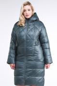 Оптом Куртка зимняя женская стеганная темно-зеленого цвета 105-918_16TZ в Казани, фото 3