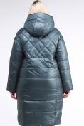 Оптом Куртка зимняя женская стеганная темно-зеленого цвета 105-918_16TZ в Казани, фото 5